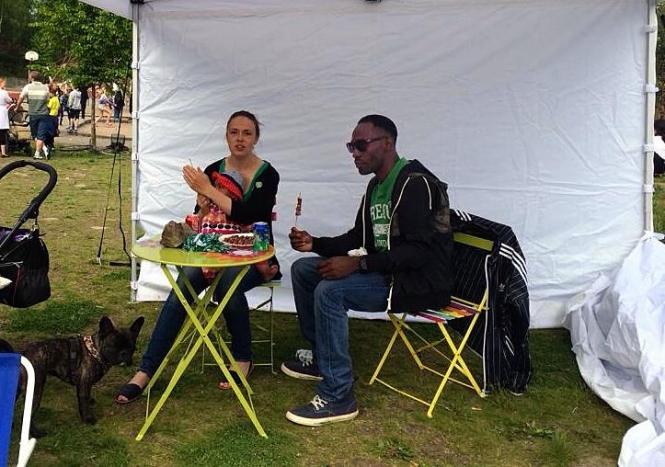 Miljöpartiet de gröna i Nacka på Internationella Festen i Fisksätra 2014