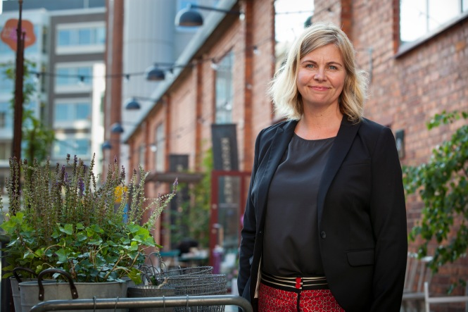 Louise Ollivier, ordförande i Miljöpartiet de gröna i Nacka. Foto: Fredrik