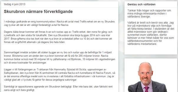 Mats Gerdaus blogginlägg