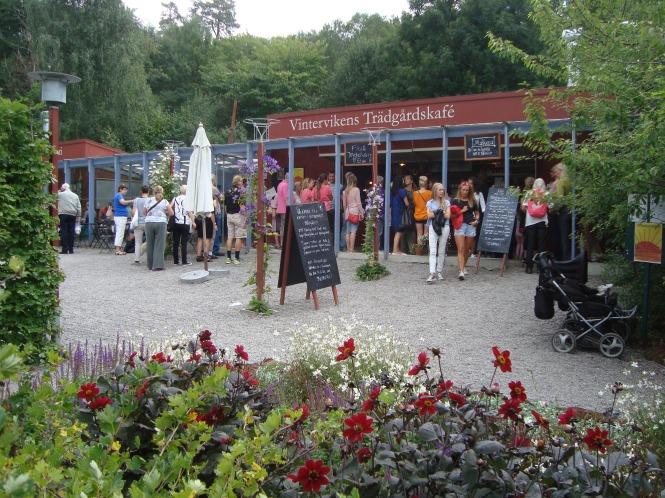 Vintervikens Trädgårdscafé i Aspudden
