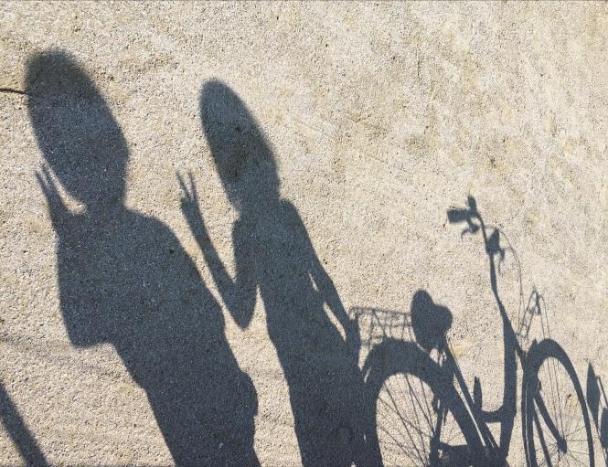 Cykel barn skugga 2